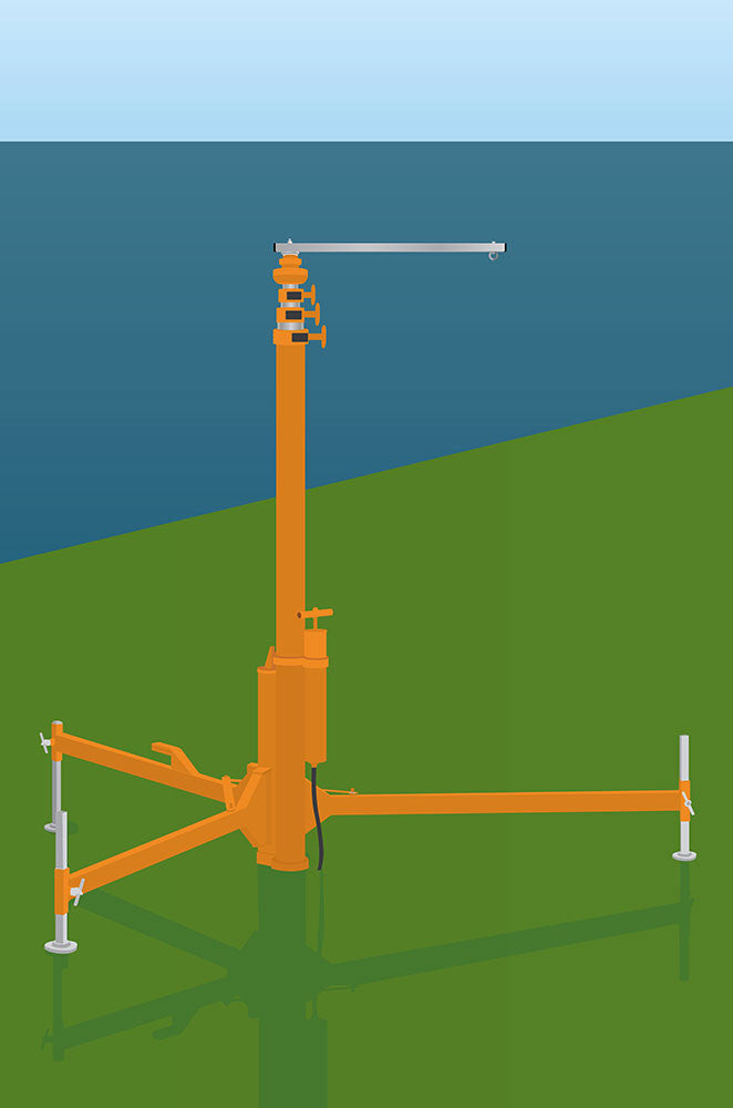 Deployable Free-standing Pole for windsocks diagram