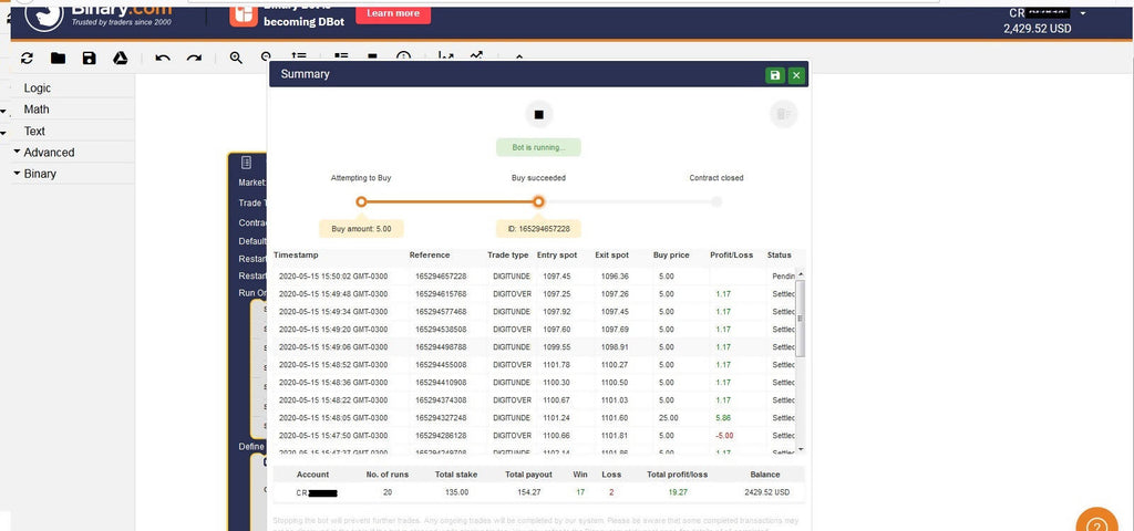 Profit Hunter's Over/Under Modal Bot