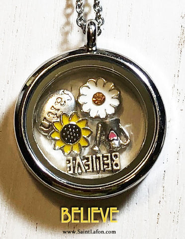 Believe Charm Locket