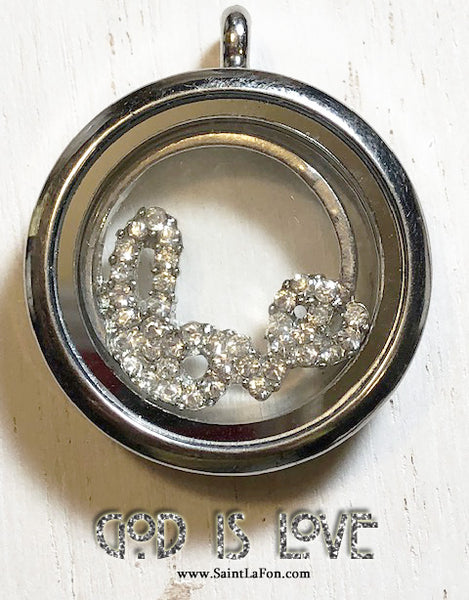 God Is Love Charm Locket