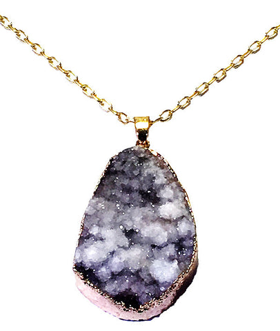 Gray Cloud Druzy