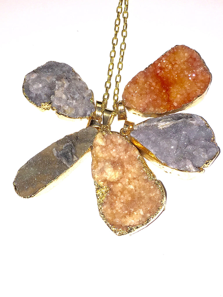 Cloud Druzy Necklaces