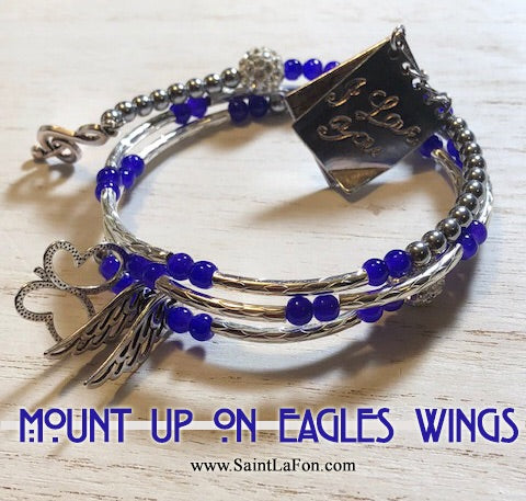 Mount Up On Eagles Wings Bracelet