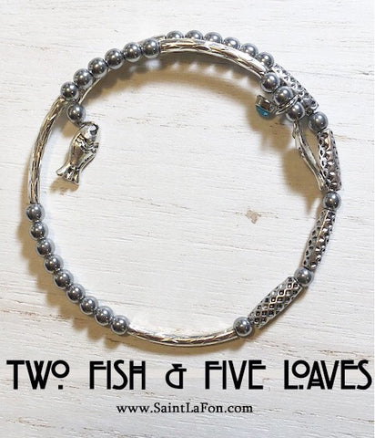 Two Fish & Five Loaves Memory Bracelet