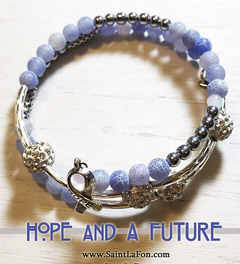 Hope And A Future Memory Bracelet
