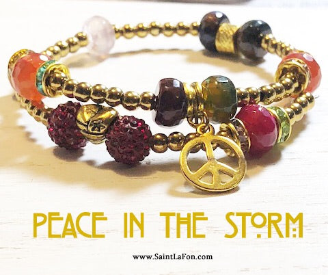 Peace In The Storm Memory Bracelet