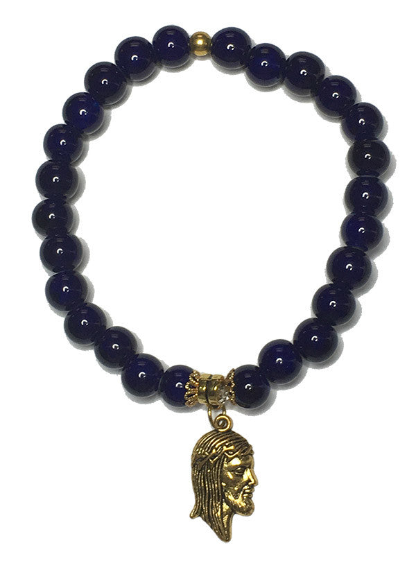 Royal Gemstone Jesus Bracelet