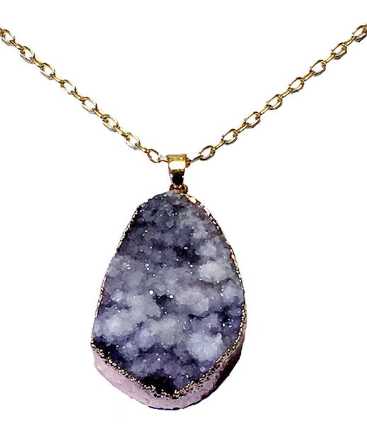 White Cloud Druzy Necklace