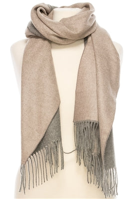 Reversible cashmere blend scarf