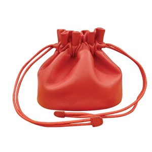 Leather drawstring jewelry pouch