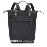 "GGL  ""stay strong"" modernist convertible  backpack"