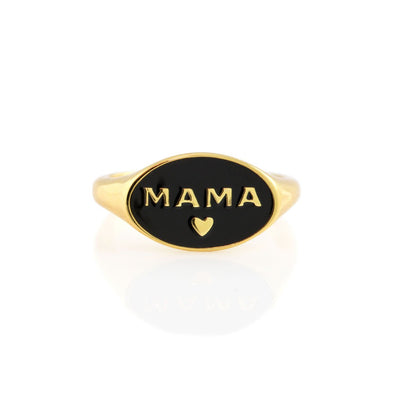 Mama enamel ring
