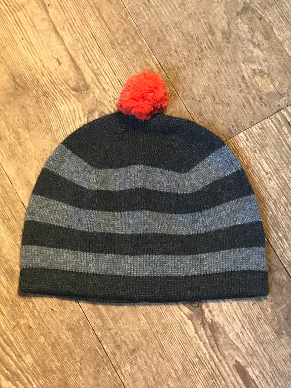 Cashmere/merino striped hat