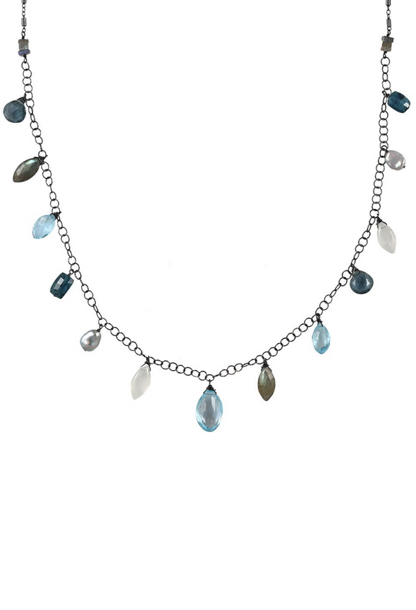 Topaz mixed stone necklace