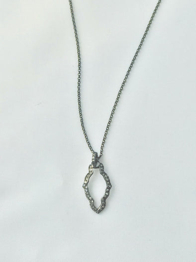 Pave champagne diamond necklace