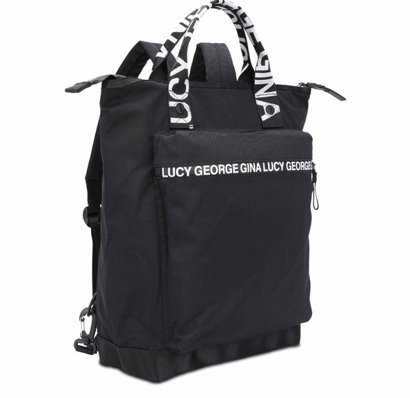 "GGL ""nylon roots""  convertible backpack"