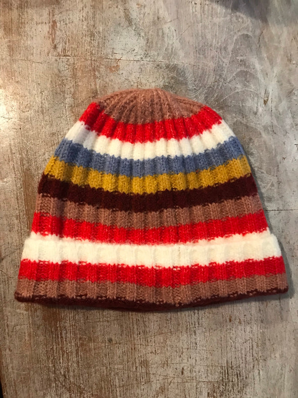 Striped stocking hat