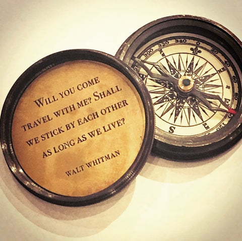 Walt Whitman quote compass