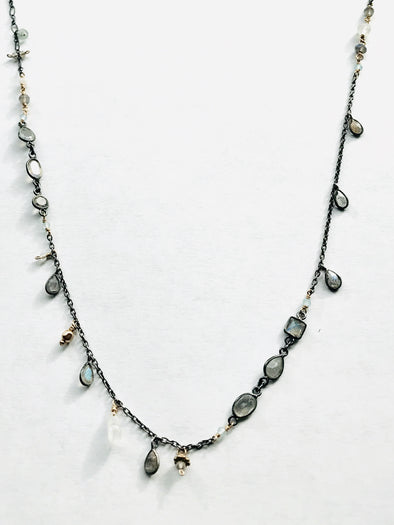 Labradorite and moonstone necklace