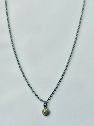 Petite circle diamond necklace