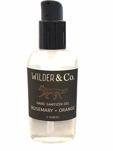 Rosemary and orange hand sanitizer