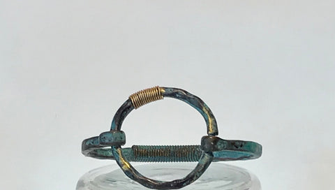 Patinated  circle bracelet