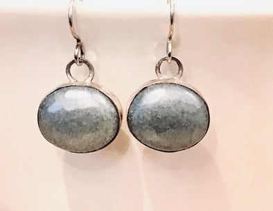 Glass and sterling earrings