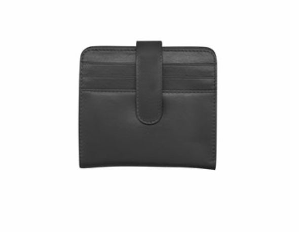 Leather snap billfold wallet