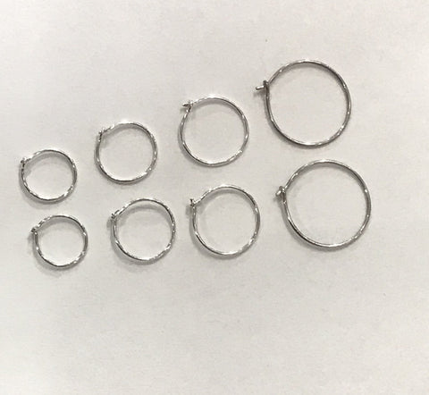 Sterling hoop earrings