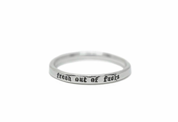 Tiny sterling silver quote rings