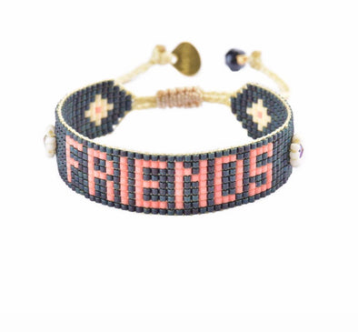 "Hand beaded ""friendship"" bracelets"