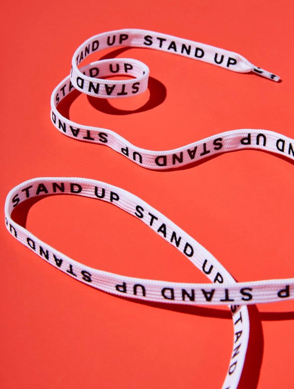 """Stand up"" shoe laces"