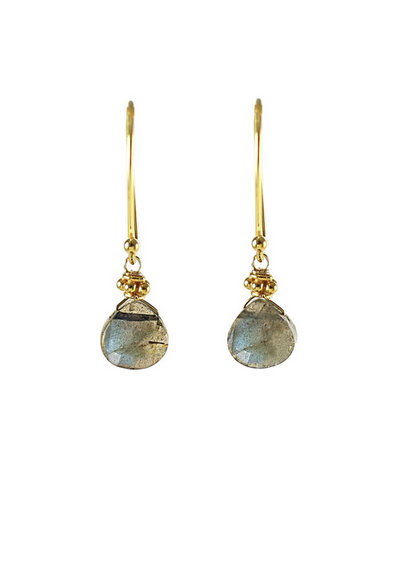 Small semi precious drop earrings