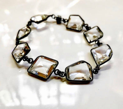 Bezel set quartz bracelet