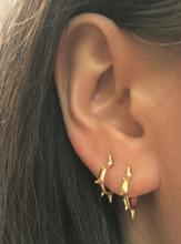 Tiny gold spike hoops