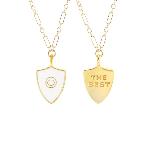 'The best' enamel necklace