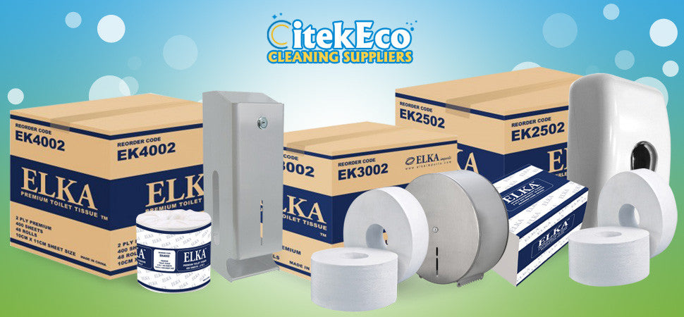Citek-Eco's Cleaning papers by Elka gives you the comfort and all the paper products and accessories in one store. Buy it in bulk.