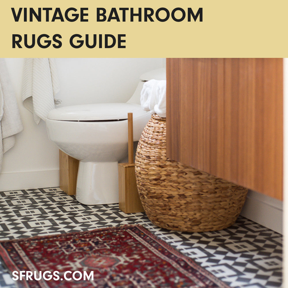 Vintage Bathroom Rugs 101 : Everything To Know About Rugs in Bathrooms