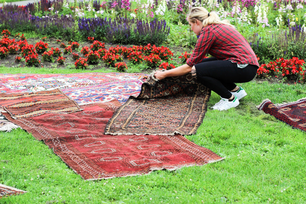 vintage and antique rugs in san francisco park