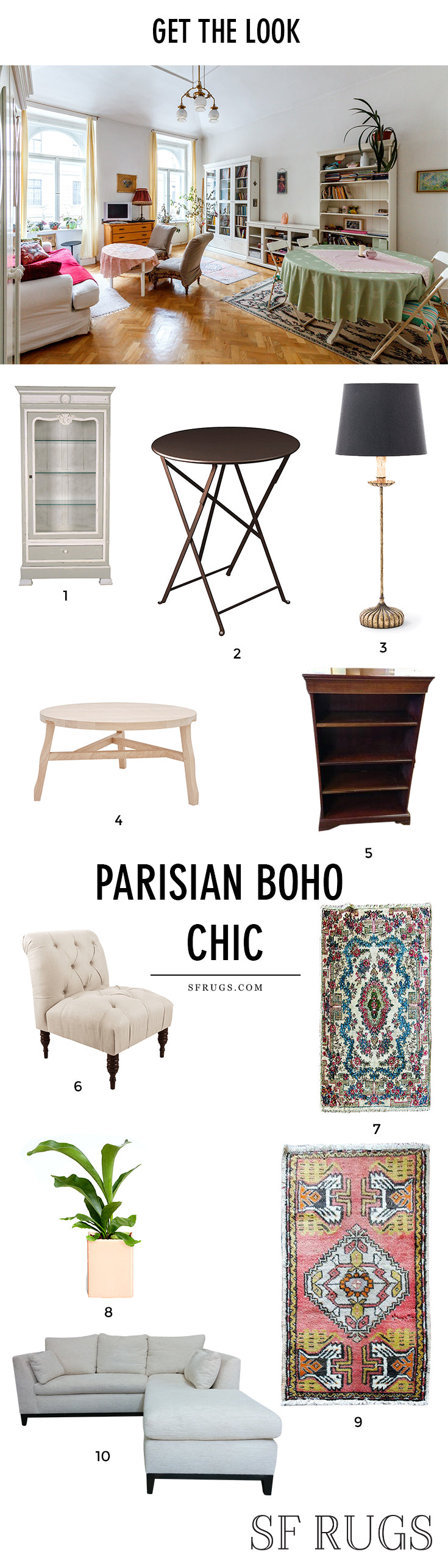 Awesome Parisian Bohemian chic home decor. Ideas for Parisian chic decor, parisian chic home, parisian chic living room, parisian decor, parisian apartment, parisian home, parisian decor vintage, parisian decor modern, parisian decor living room, parisian decor apartment, parisian decor interior, parisian decor bohemian. @sfrugs sfrugs.com