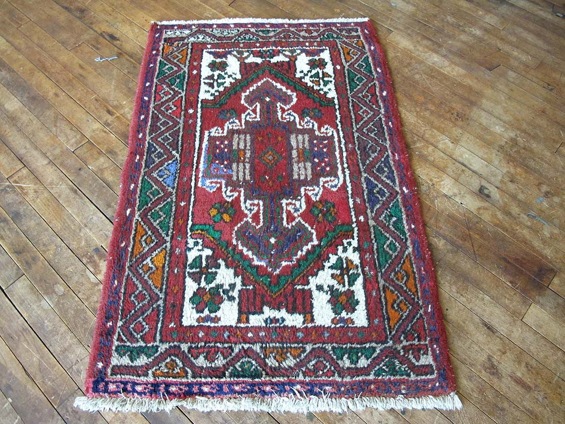small vintage bathroom rug