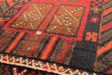 Vintage Persian Runner Rug 3x9' Black