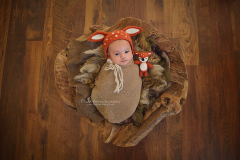 Deer Bonnet / Baby Deer Newborn Baby Photography Props - True Art Collection