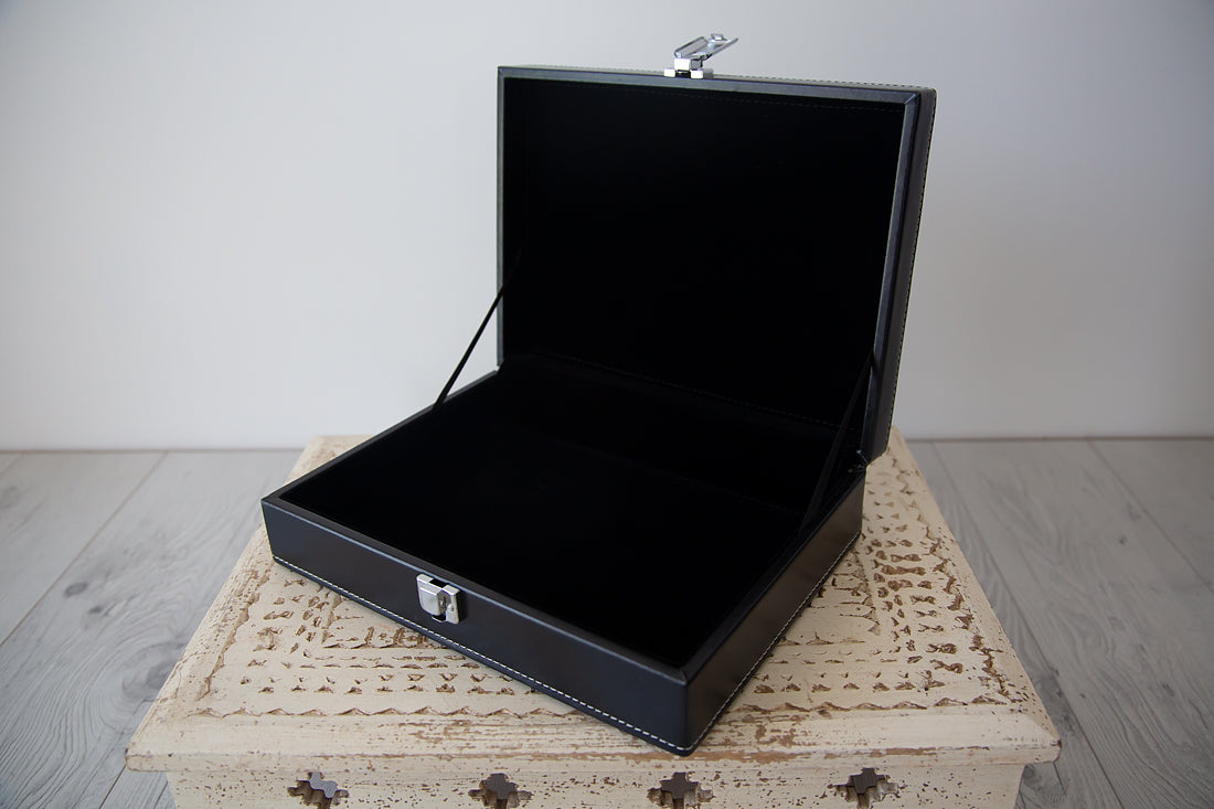 Leather Luxury Photo Box (Large)