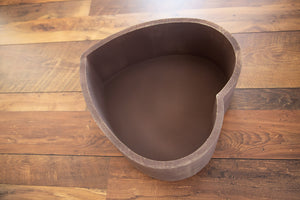 Heart Wooden Bowl (Brown)