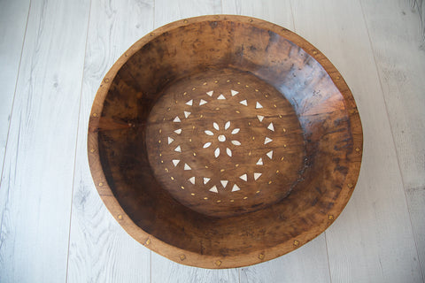 Tribal Wooden Bowl #3