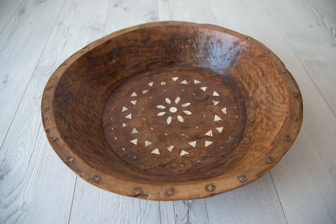 Tribal Wooden Bowl #4