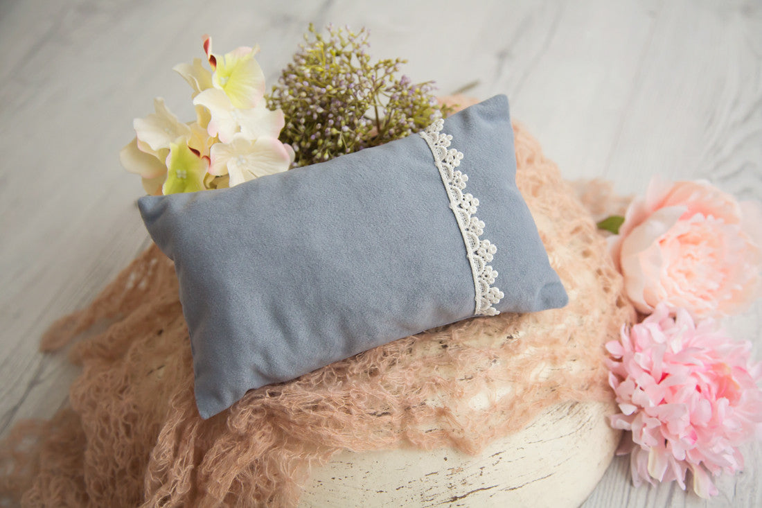 Grey Pillow Newborn Baby Photography Props - True Art Collection