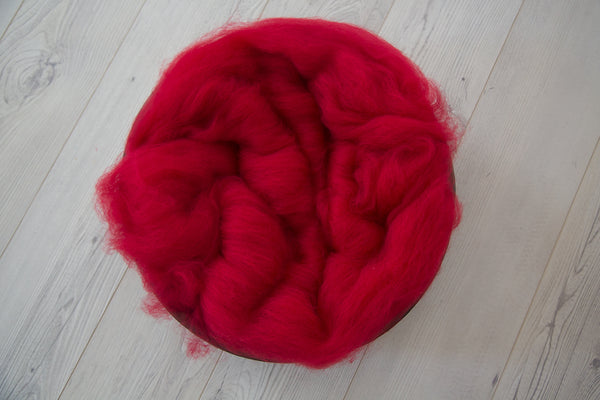 Fluffy wool and bonnet set ~ Red