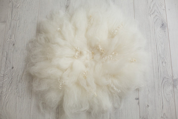 Felted Wool Newborn Baby Photography Props ~ Natural White - True Art Collection